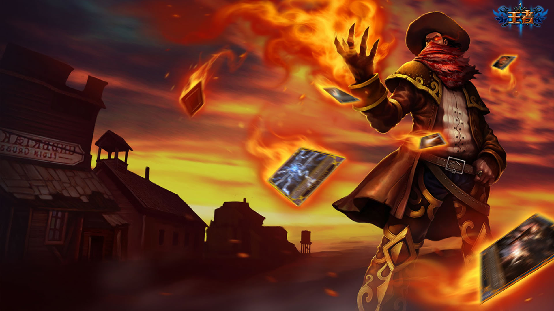 High Noon Twisted Fate Chinese Wallpaper Leaguesplash