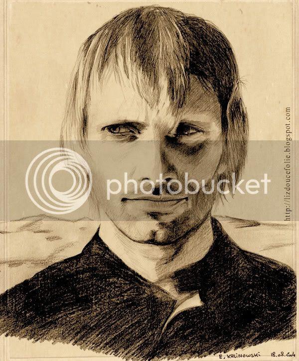 Viggo Mortensen 2004 portrait dessin drawing
