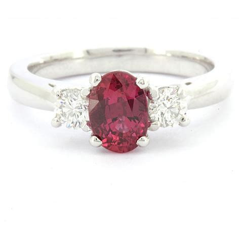 1.65ct Three Stone Oval Ruby Ring GR053 Ireland   Commins