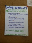 ows donations flyer, close up