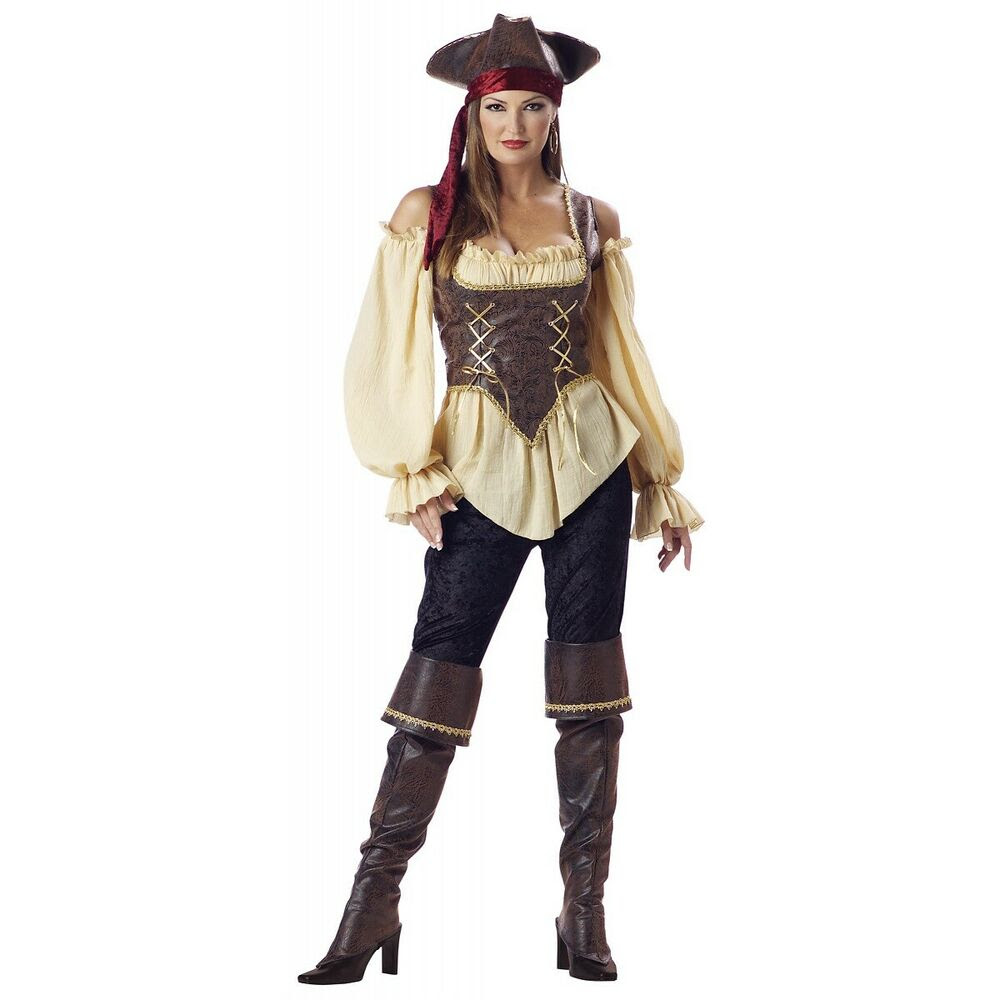 pirate costume women adult deluxe halloween fancy dress  ebay