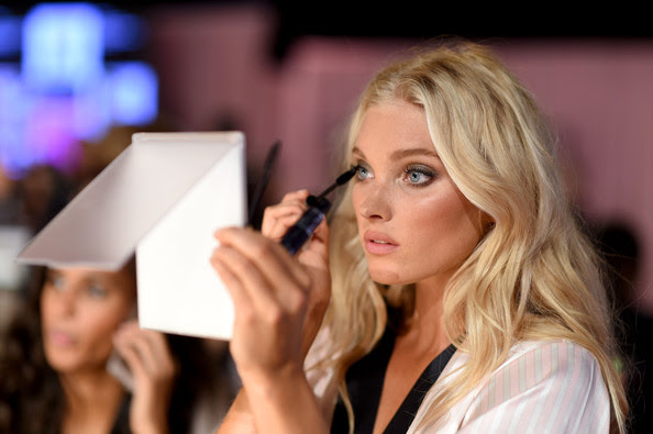 Elsa Hosk Applies Some Last-Minute Mascara