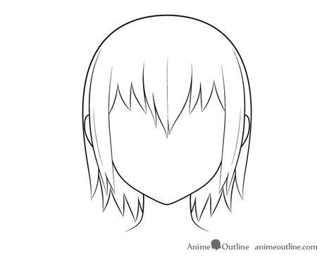 draw wet anime hair step  step animeoutline