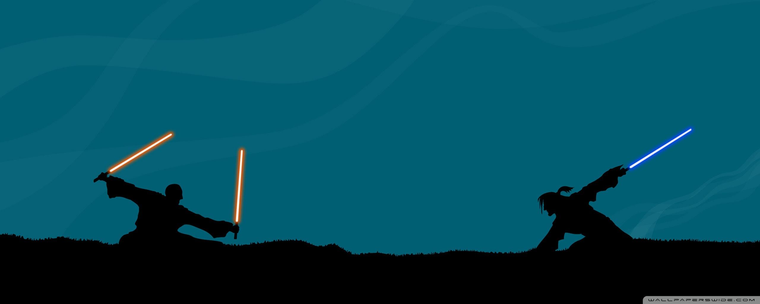 Star Wars Lightsaber Fight Ultra Hd Desktop Background Wallpaper