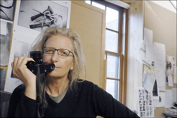 The superstar photographer in her studio. The combination of popular and personal imagery in her new book is