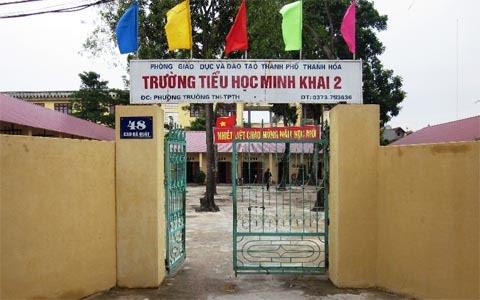 lm thu, tr n, phng, Tiu hc Minh Khai 2