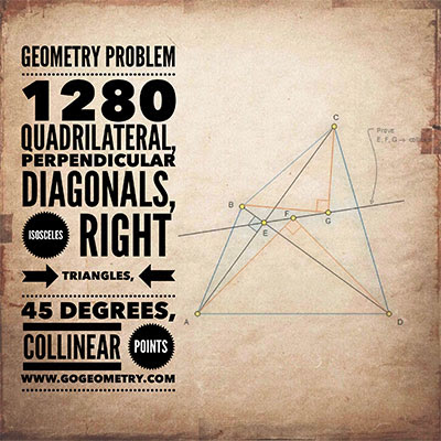 Geometry Problem 1280: Quadrilateral, Typography, Instagram, Mobile Apps.
