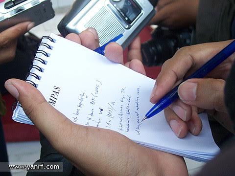 Journalists on duty