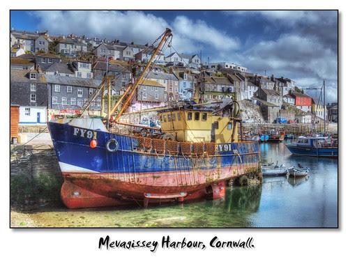 Mevagissey Inner Harbour. Mevagissey, Cornwall.