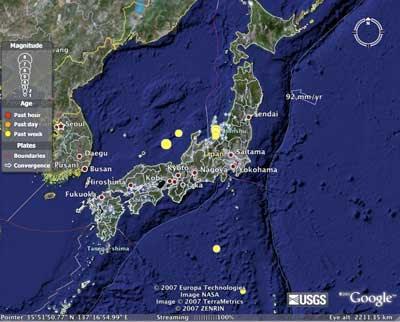 Google Earthquake Map JPG