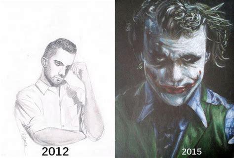 drawings show artists progress demilked