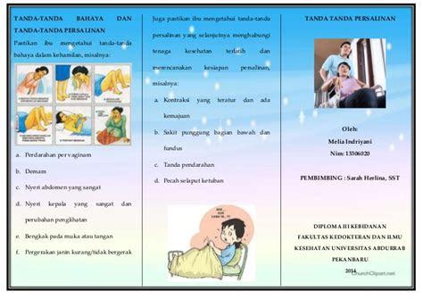 brosur leaflet persiapan persalinan