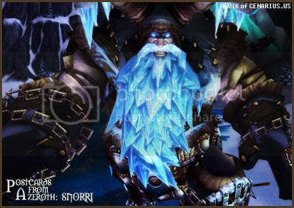 Rioriel and Nevik's daily World of Warcraft screenshot presentation of significant locations, players, memorable characters and events, assembled in the style of a series of collectible postcards. -- Postcards of Azeroth: Snorri