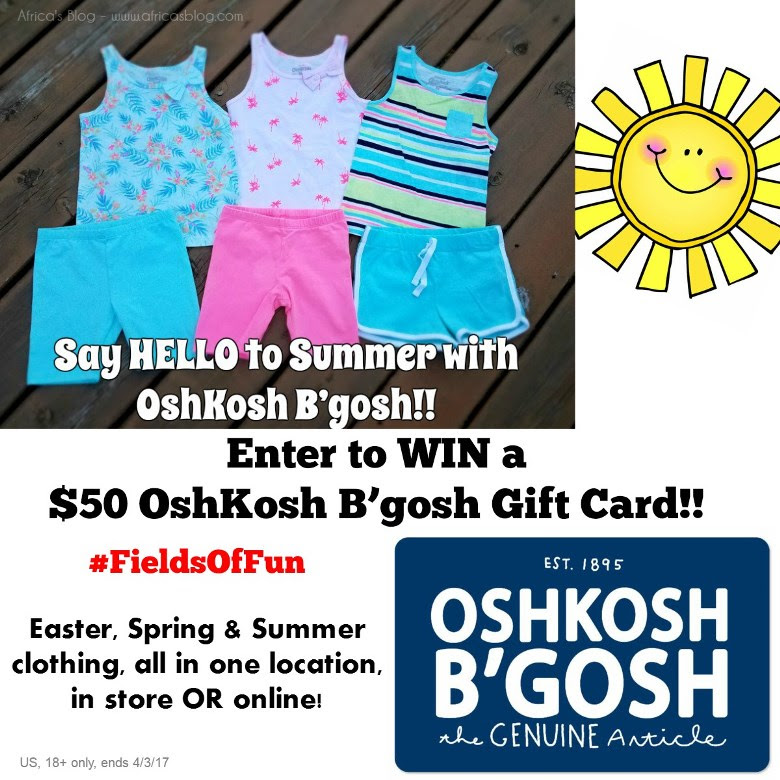 Enter to WIN a $50 OshKosh B'gosh Gift Card! # #FieldsOfFun (ends 4/3)