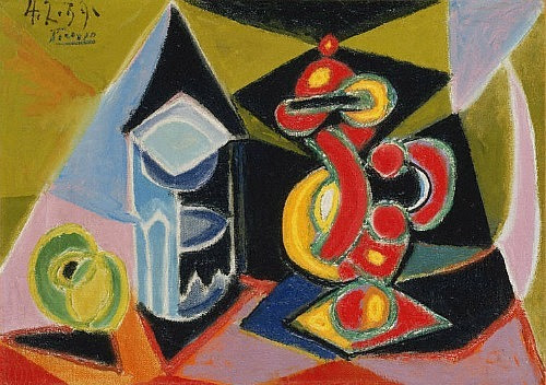 Pablo Picasso Still Life with Glass and Fruit 1939. Pablo Picasso