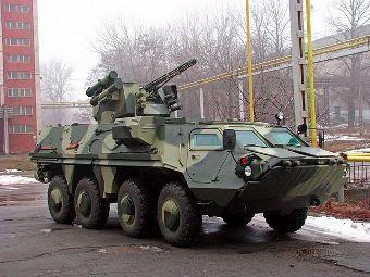 БТР-4Е с пушкой ЗТМ-1. Фото с сайта iraqimilitary.org