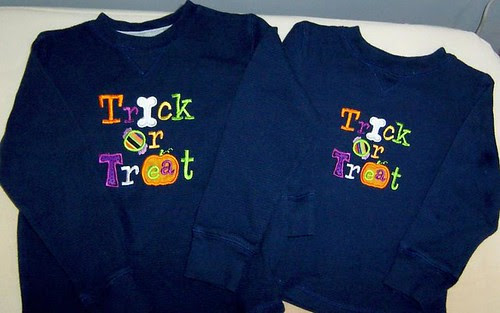Trick or Treat Embroidered Shirts
