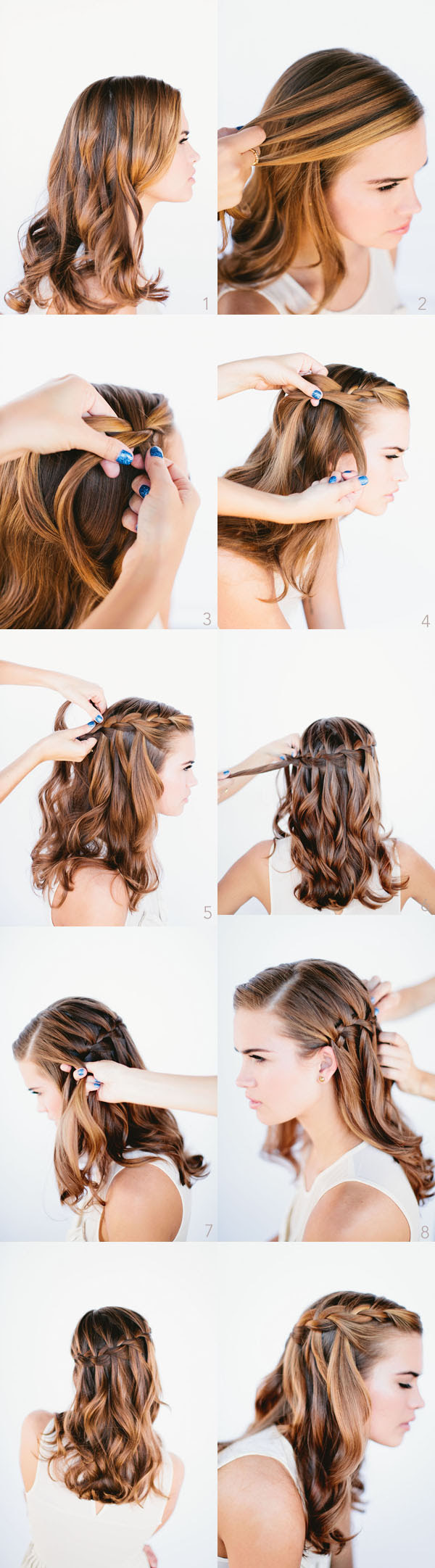 How to do waterfall braid wedding hairstyle for long hairs ...