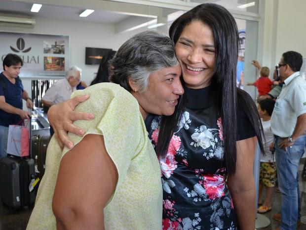 Encontro em Rondônia foi movido a muito carinho por parte das irmãs  (Foto: Magda Oliveira/G1)