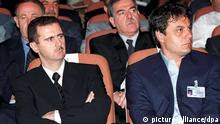 Bashar al-Assad and Manaf Tlass