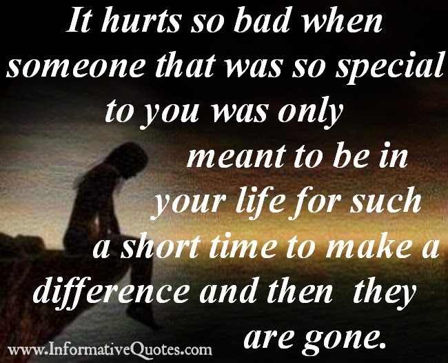 Someone That Was So Special To You Informative Quotes