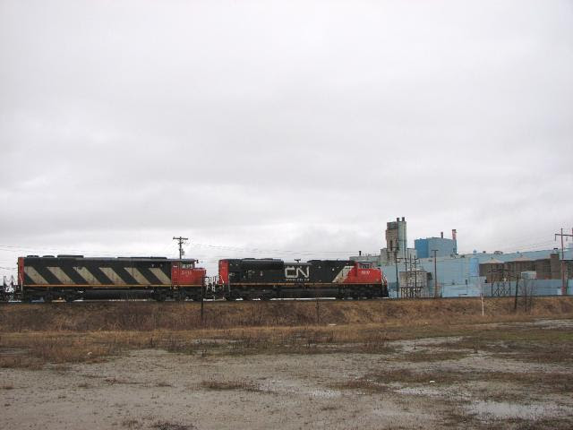 CN 8807 on CN 308 in Miramichi, NB
