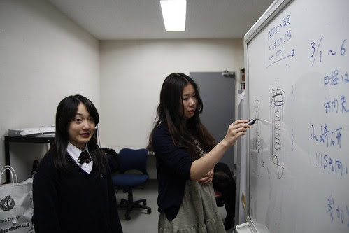 Yuiko the producer with Arisa