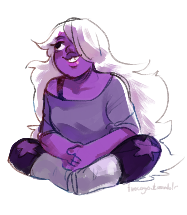 I feel Vidalia on the muse thing. I could draw amethyst doing absolutely nothing five times a day.