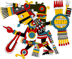 Tezcatlipoca - a deity central to the Aztec religion, and whose name translates to 'Smoking Mirror'...
