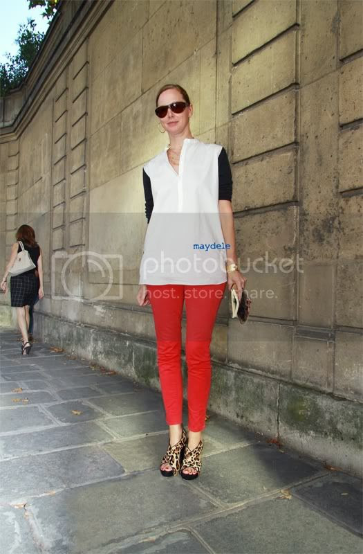 Anne Christiensen from US Glamour wearing COS shirt, J Brand jeans and Diane von Furstenberg shoes