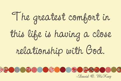 The Greatest Comfort In This Life Is Having A Close Relationship