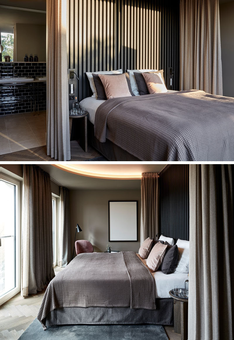 Create A Dramatic And Dark Bedroom With A Black Headboard ...