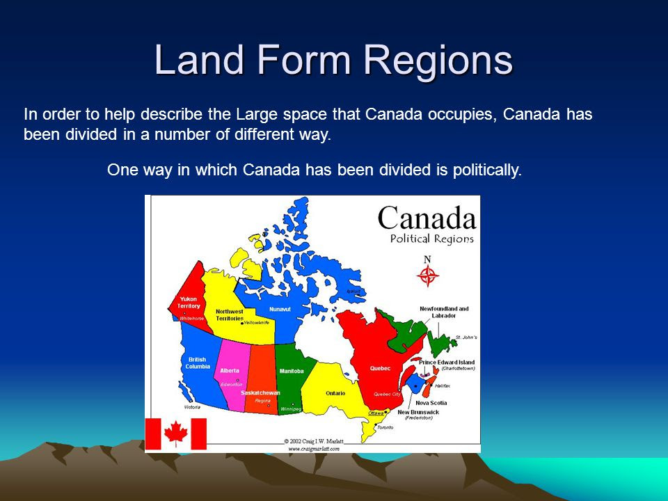Land+Form+Regions+In+order+to+help+describe+the+Large+space+that+Canada+occupies%2C+Canada+has+been+divided+in+a+number+of+different+way