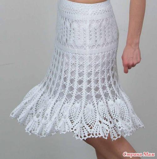 La falda.  Tejer juntos