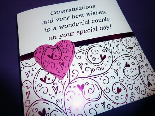 Congratulation Wedding Day Card by InspiredByScript.com