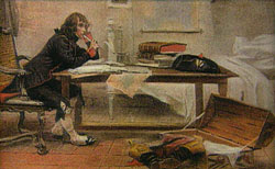 Napoleon at desk