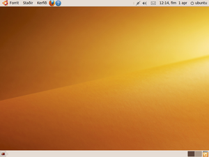 Screenshot of Ubuntu 9.10