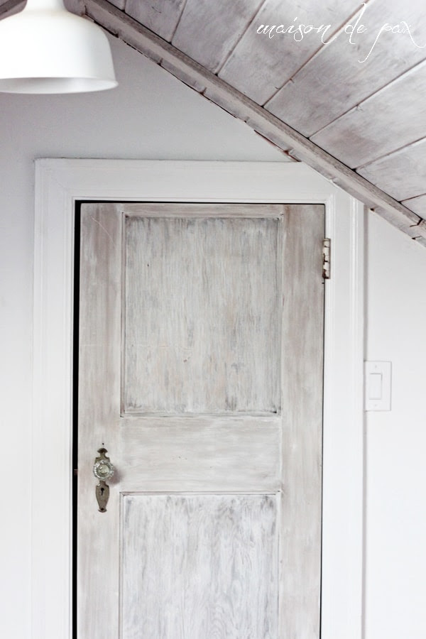 whitewashed door mid