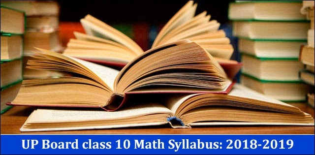 DALY NEW JOB ALEART: UP Board Class 10 Maths Syllabus 2019-2020