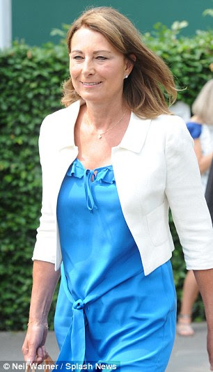 Youthful look: Carole Middleton belied her 58 years as she arrived at Wimbledon today