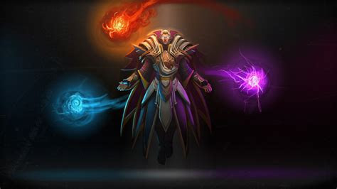 full hd wallpaper invoker dota  spell wizard desktop