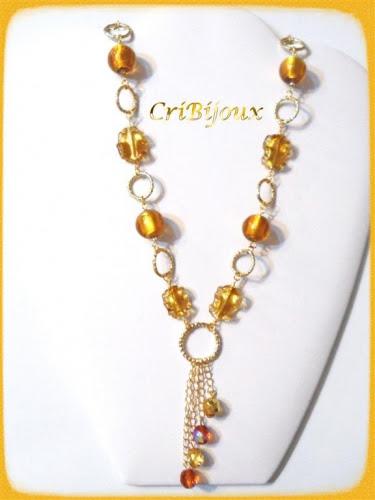 collana moda topazio con cristalli