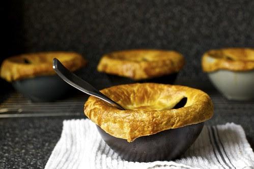 pancetta, white bean and chard pot pies