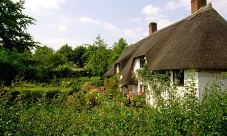 Country Diary : Tatched cottage in Marnhull, Dorset