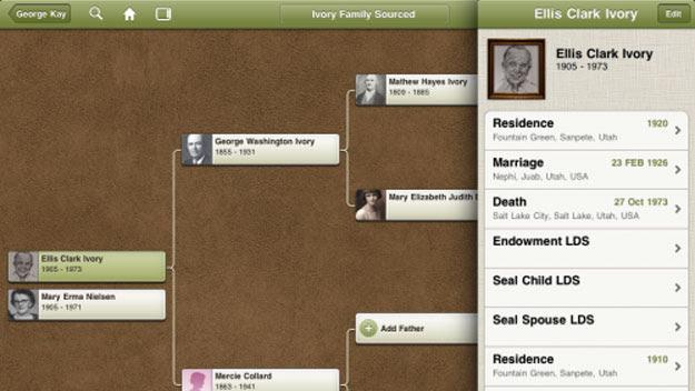 Ancestry iPad app