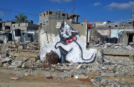 Banksy Kitten in Gaza