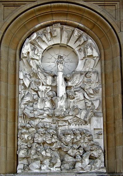 Archivo:Venida de la Virgen del Pilar (Pablo Serrano).jpg