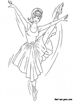 printable barbie ballerina coloring in sheet  printable
