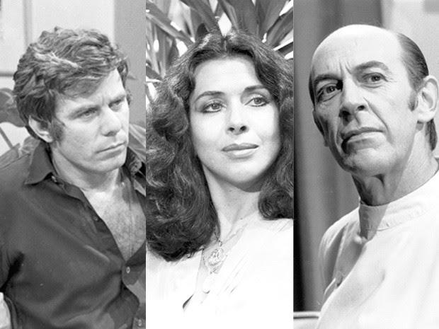 Nélson (Reginaldo Faria), Lígia (Betty Faria) e Miguel (Raul Cortez) (Foto: CEDOC/TV Globo)