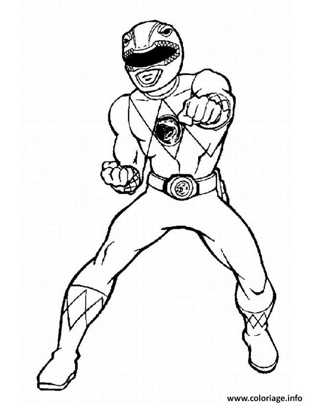 Coloriage Power Rangers Jungle Fury Karate Jecoloriecom